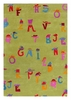 Alphabet Hats Rug in Green