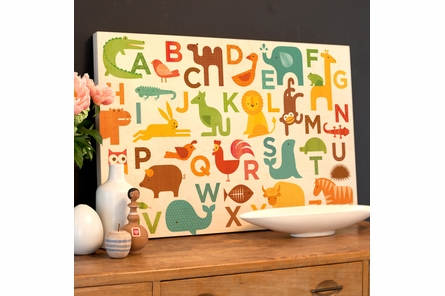 Alphabet Kingdom Jumbo Wood Panel Art Print