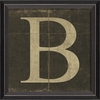 Alphabet Letter B Framed Wall Art
