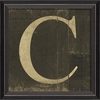 Alphabet Letter C Framed Wall Art