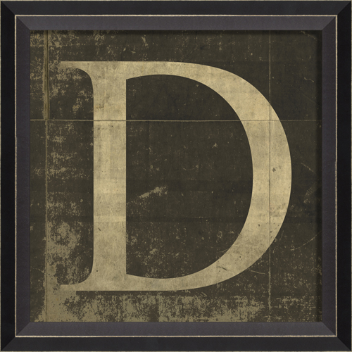 ... Style > Vintage > Vintage Kids Art > Alphabet Letter D Framed Wall Art