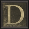 Alphabet Letter D Framed Wall Art