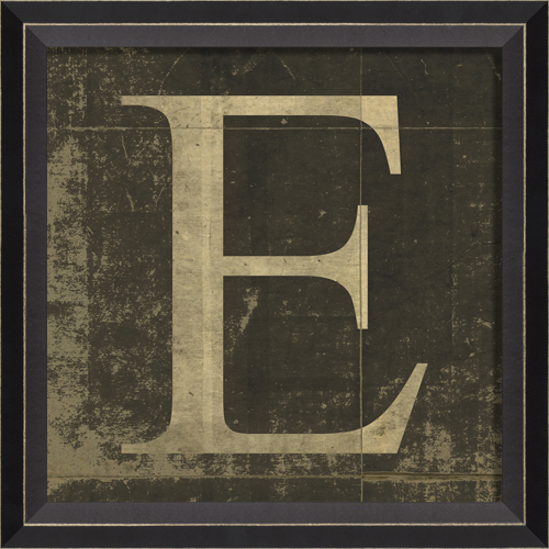 ... Style > Vintage > Vintage Kids Art > Alphabet Letter E Framed Wall Art