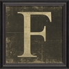 Alphabet Letter F Framed Wall Art