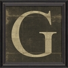 Alphabet Letter G Framed Wall Art
