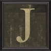 Alphabet Letter J Framed Wall Art