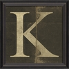 Alphabet Letter K Framed Wall Art