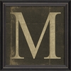 Alphabet Letter M Framed Wall Art