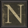 Alphabet Letter N Framed Wall Art