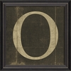 Alphabet Letter O Framed Wall Art