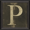 Alphabet Letter P Framed Wall Art