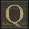 Alphabet Letter Q Framed Wall Art