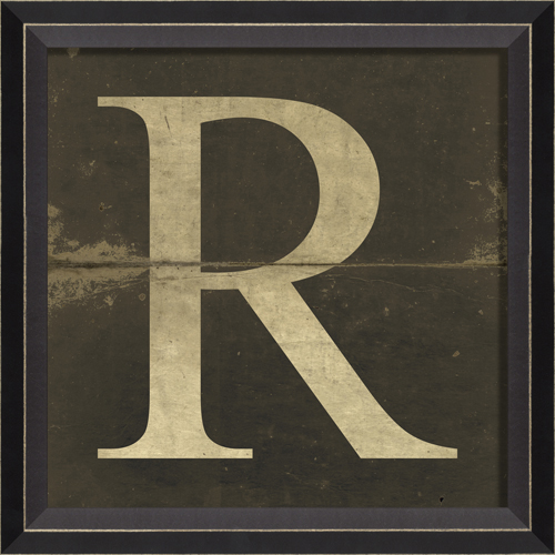 ... Style > Vintage > Vintage Kids Art > Alphabet Letter R Framed Wall Art