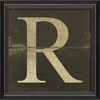 Alphabet Letter R Framed Wall Art