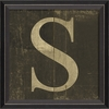 Alphabet Letter S Framed Wall Art