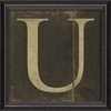 Alphabet Letter U Framed Wall Art