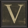 Alphabet Letter V Framed Wall Art