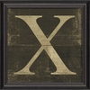 Alphabet Letter X Framed Wall Art
