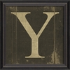 Alphabet Letter Y Framed Wall Art