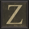 Alphabet Letter Z Framed Wall Art