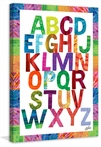 Alphabet Letters Canvas Wall Art
