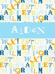 Alphabet Mix - Boy Personalized Canvas Wall Art