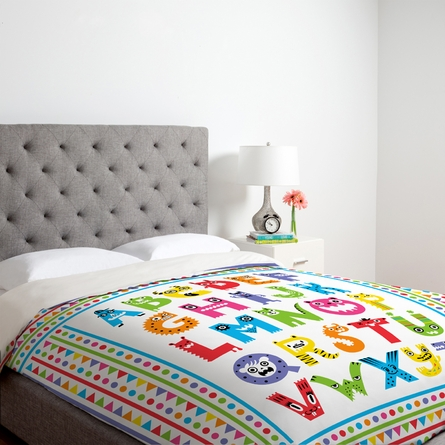 Alphabet Monsters Lightweight Duvet Cover