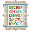 Alphabet Monsters Quatrefoil Magnet Board