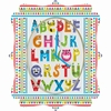 Alphabet Monsters Quatrefoil Wall Clock