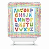 Alphabet Monsters Shower Curtain