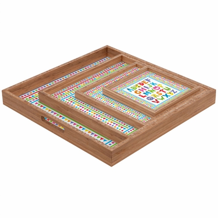Alphabet Monsters Square Tray