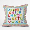 Alphabet Monsters Throw Pillow