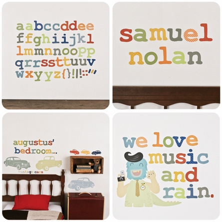 Alphabet Nautical Fabric Wall Decals