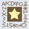 Alphabet Star Canvas Reproduction