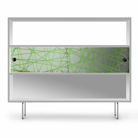 Alto Bookshelf with Green Strands Panels