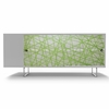 Alto Credenza with Green Strands Panels