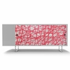 Alto Credenza with Red Strands Panels