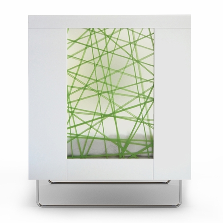 Alto Crib with Green Strands Panels