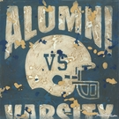 Alumni VS Varsity Football Canvas Wall Art