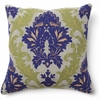 Amalfi Embroidery Blue and Green Throw Pillow