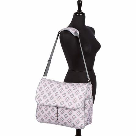 Amber Tote Diaper Bag in Sweet Blush Montage