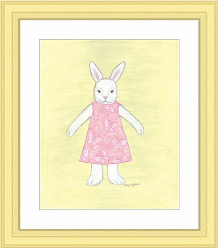 Amelia Bunny Framed Lithograph