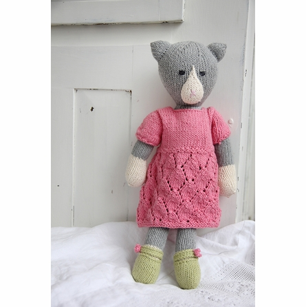Amelia Kitty Hand-Knit Organic Stuffed Toy