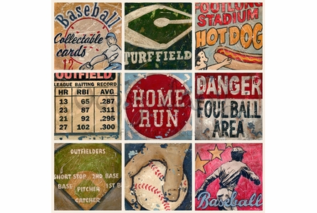America's Favorite Pastime with Cream Background Canvas Wall Art