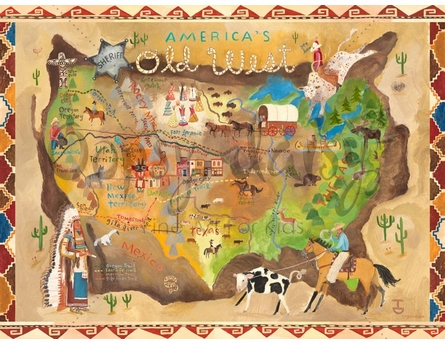 America's Old West Canvas Wall Art