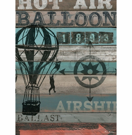 American Byways - Air Balloon Canvas Wall Art