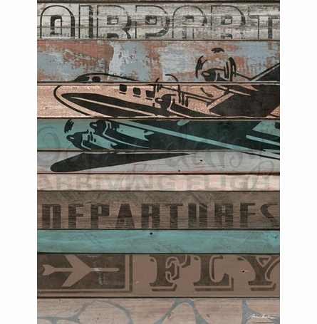 American Byways - Airplane Canvas Wall Art