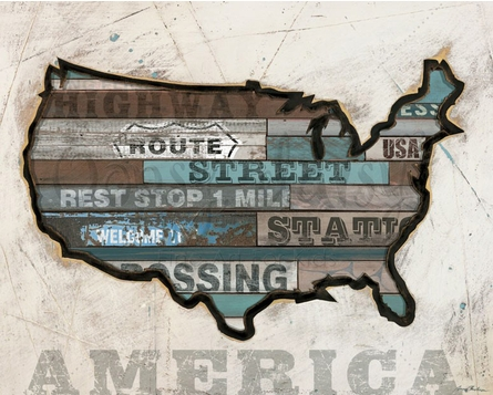 American Byways - America Canvas Wall Art