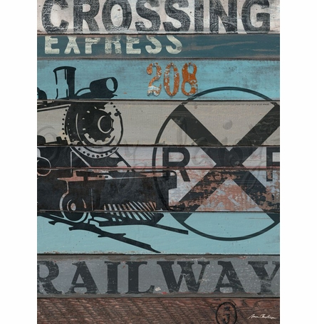 American Byways - Railway Canvas Wall Art