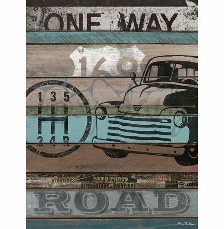 American Byways - Truck Canvas Wall Art